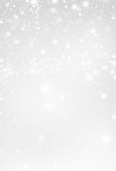 Abstract  Silver Christmas Background with white  lights. Festiv