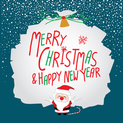 Santa claus design for christmas. Merry christmas and Happy new year