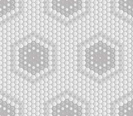 Seamless abstract tile background - hexagons. The color of the metal light tone. Vector illustration.