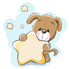 Dog with star