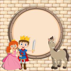 Border design with prince and princess