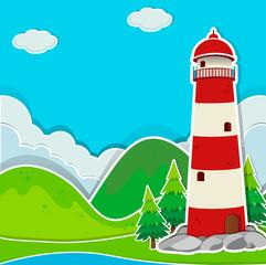 Lighthouse on the ground