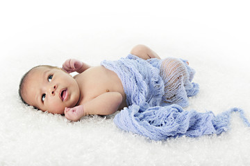 Adorable Biracial Newborn