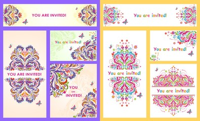 Collection of invitations