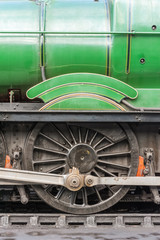 Wall Mural - vintage steam locomotive wheel closeup