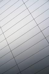 Fassade aus Aluminium an einem Bürogebäude