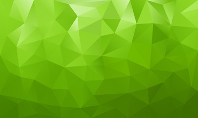 low poly background green 4 Wall mural