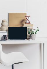 Laptop, work space