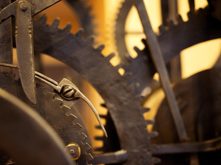 Grunge gear, cog wheels background. Concept of industrial, science, clockwork, technology