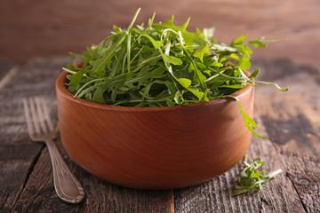 bowl of arugula salad