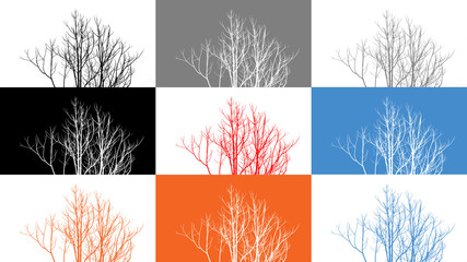 8 Colored tree branches