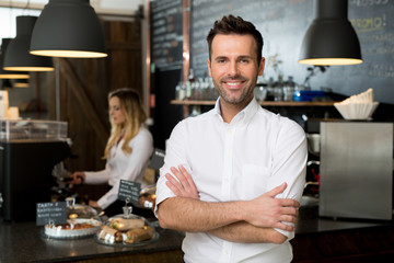 Successful restaurant manager