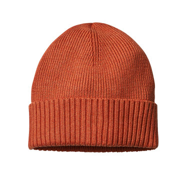 woolen cap isolated on white with clipping path
