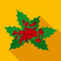 Christmas Mistletoe in Flat Style