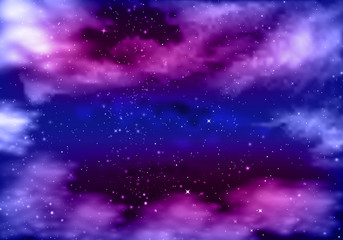 violet blue night sky