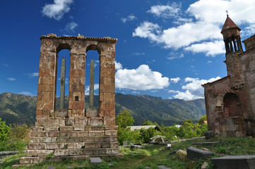Wall Murals Monument Monument - gravestone in Odzun monastery. Armenia
