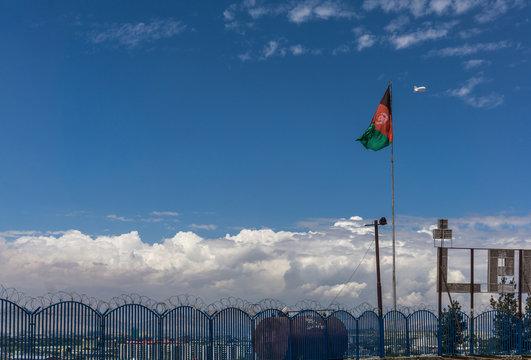 kabul overview afghanistan flag