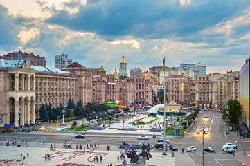 Fototapete - Maidan Nezalezhnosti Square, Kyiv, Ukraine