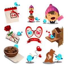 Valentine day icons