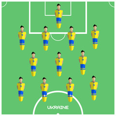 Computer game Ukraine Football club player