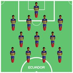 Computer game Ecuador Football club player