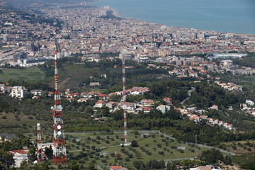 Vista aerea della città di Pescara in Abruzzo