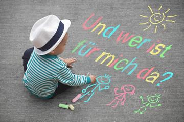 Kinderzeichnung - Und wer ist für mich da?