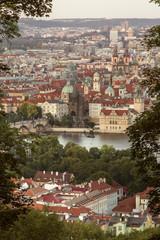 Sunset in old Prague