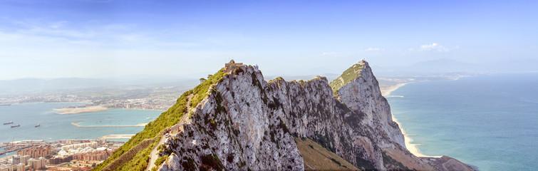 Gibraltar Rock Summit Panorama Spain