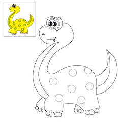 Picture for coloring a dinosaur.