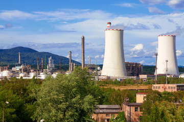 Petrochemical industrial plant, Czech Republic