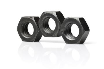 Arrangement Of Three Metal Nuts