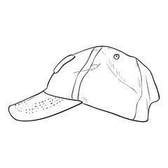 Vector sketch cap template