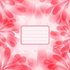 Card with pink flowers