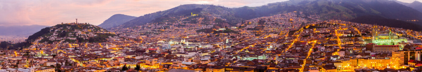 Quito By Night Panorama