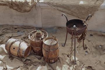 ancient wine barrels