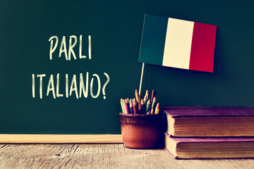 Fototapeta question parli italiano? do you speak Italian?