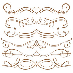 set. calligraphic design elements and page decoration