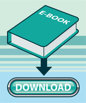 Download Ebook Button with Book Icon Vector