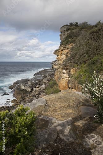 North Head sea cliffs, Sydney
