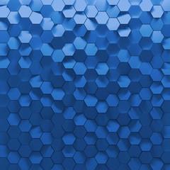 Blue Hexagon Wall Tiles Texture Background