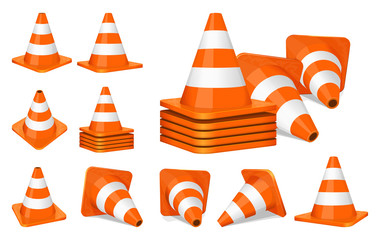 Traffic cones icon