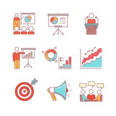 Business presentation, education, seminar, lecture