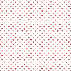 Red Little Hearts Seamless Pattern