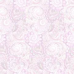 Seamless pastel ornamental wallpaper with indian ornament