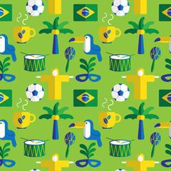 brazil seamless background