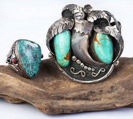 Old Navajo Turquoise Jelery.