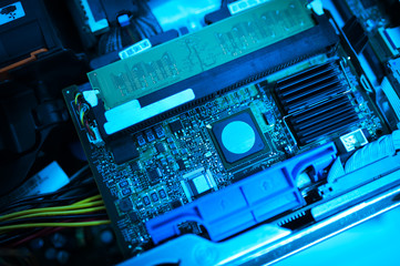 Cutcuit electronic on motherboard