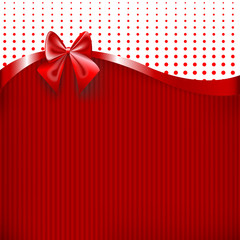 Red Ribbon And Bow Isolated On White Background Vector Illustration