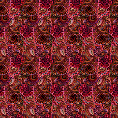 Shiny red template of ethnic ornate wallpaper
